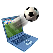 Fussball - Laptop